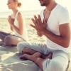 Tranquil Yoga on beach